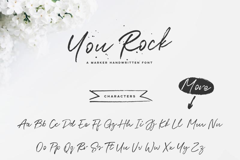 you-rock-handwritten-font