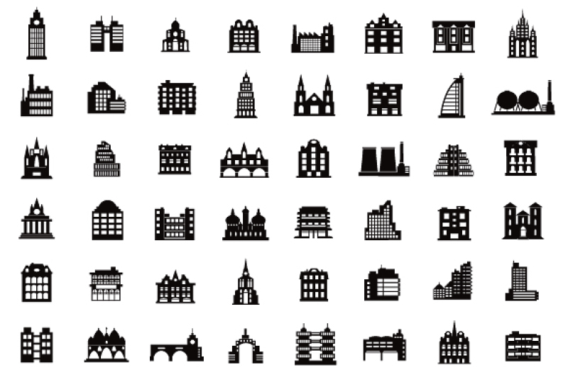 silhouettes icon city houses png jpg building clipart city icon urban icon by alexzel thehungryjpeg com silhouettes icon city houses png jpg