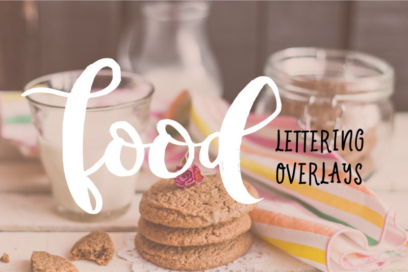 food-lettering-overlays-vector-png