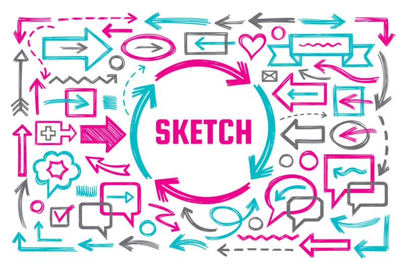 hand-draw-sketch-doodles-design-elements