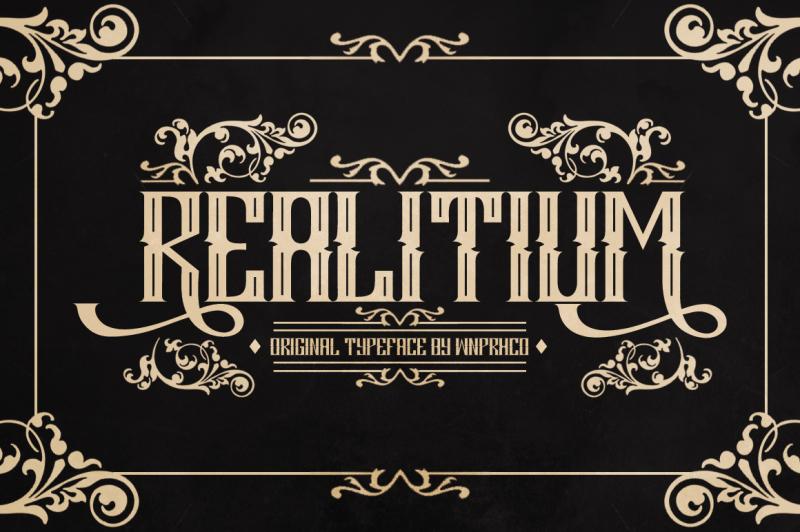 realitium-font