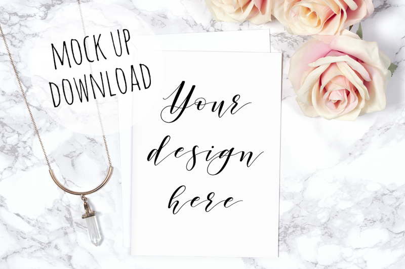 Free Pretty Card Mockup Photograph (PSD Mockups)
