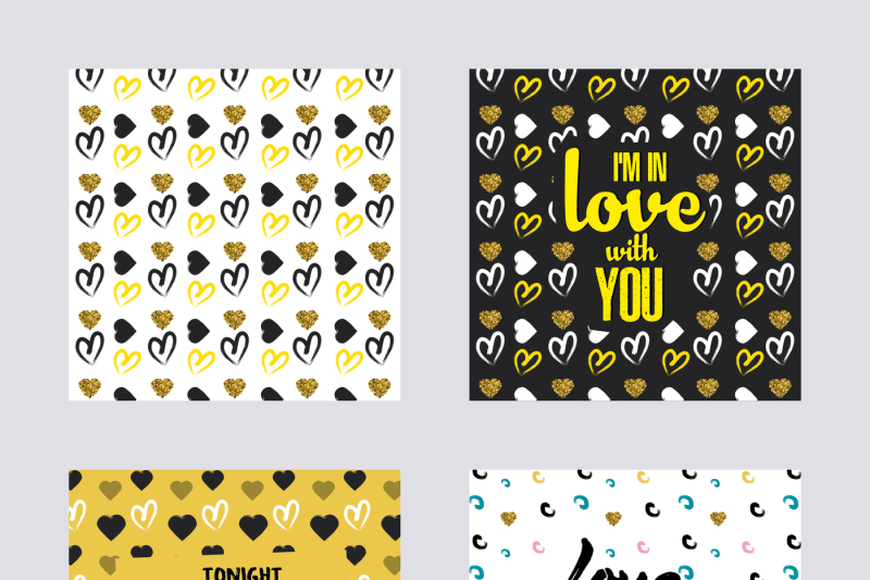 set-of-backgrounds-with-valentine-s-day-and-love-design-applicable-for-covers-placards-posters-flyer-and-banner-designs-vector-illustration