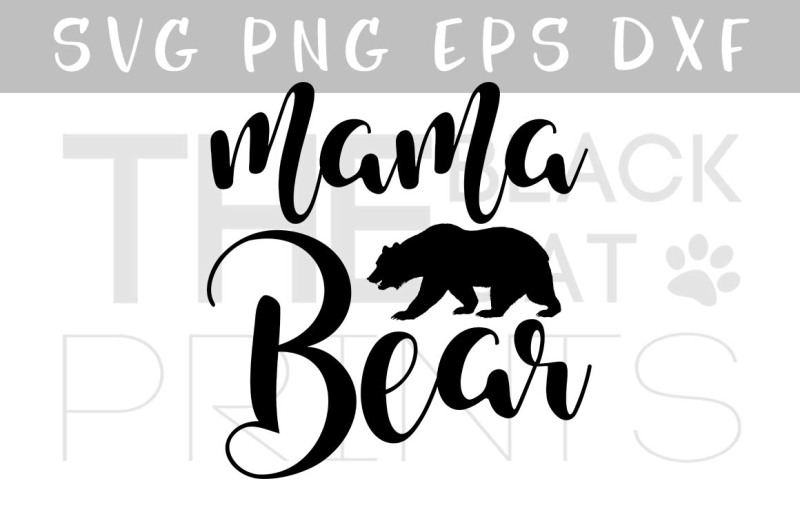 mama-bear-svg-calligraphy-vector-svg-eps-png-dxf
