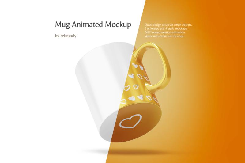 Free Mug Animated Mockup (PSD Mockups)