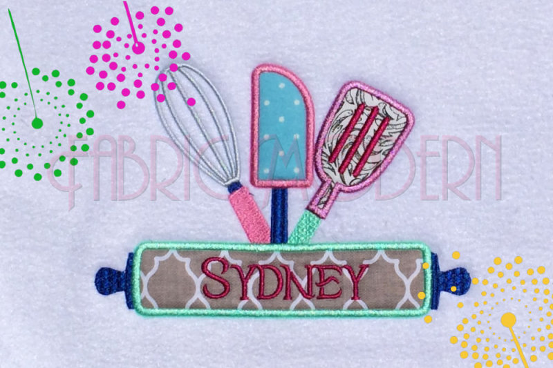 little-baker-name-frame-machine-embroidery-pattern-applique-5x7-and-6x8