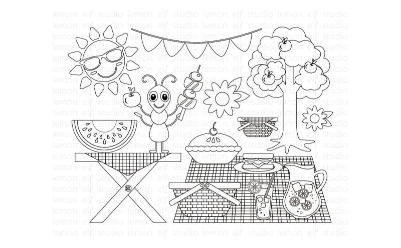 summer-picnic-digital-stamp-les-ds38
