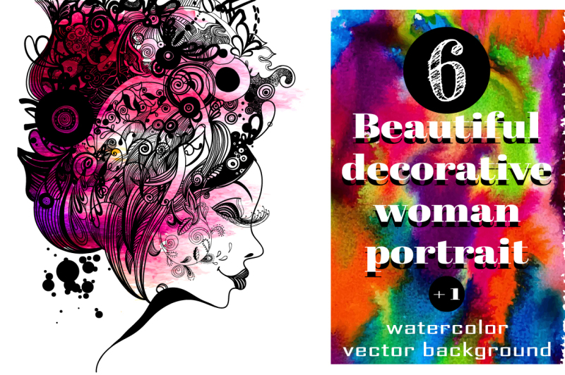 6-woman-zentangle-inspired-portrait
