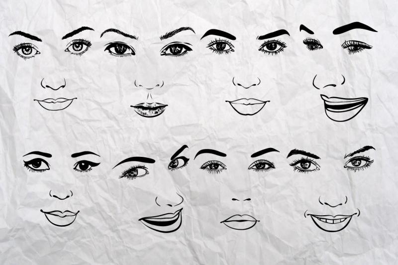 26-woman-faces-set