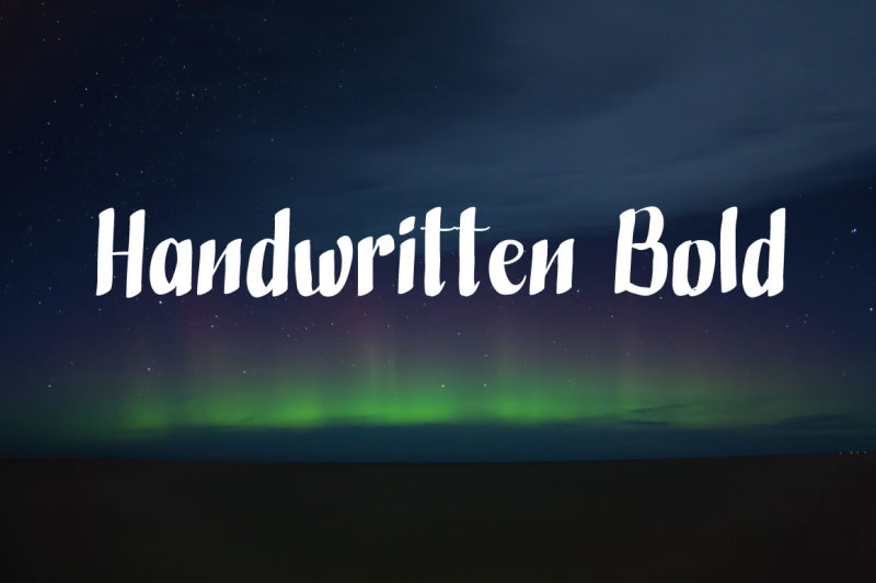 handwritten-bold
