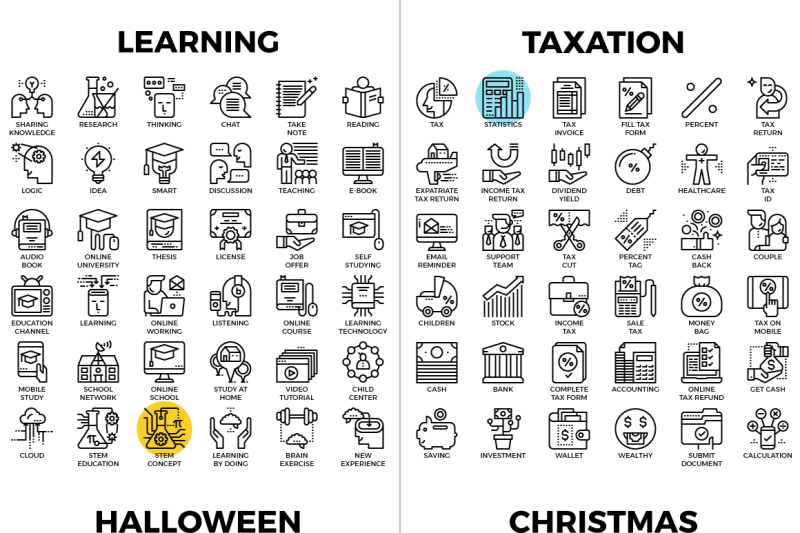 linesen-detailed-line-icons-collection
