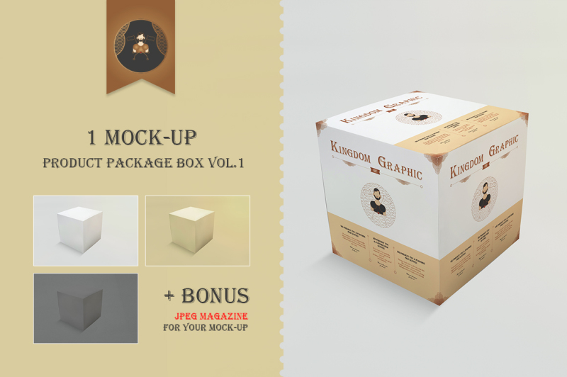 Free Mock-Up Product Package Box Vol.1 (PSD Mockups)