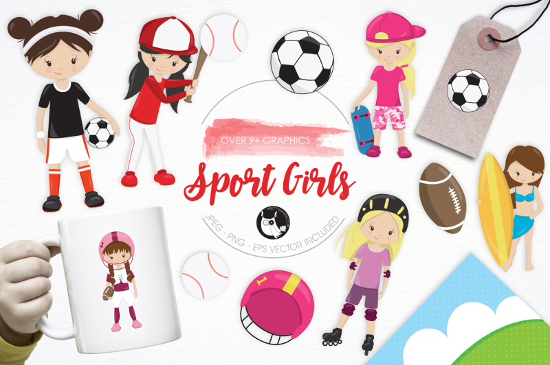 sport-girls-graphics-and-illustrations