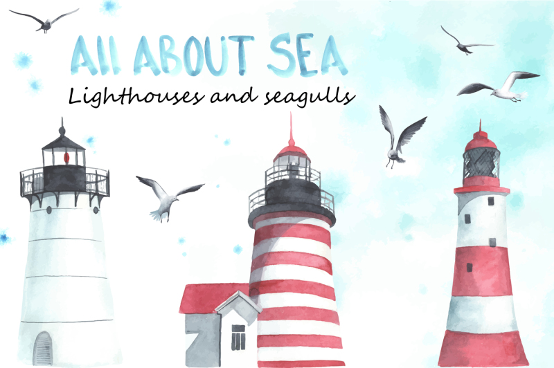 lighthouses-and-seagulls-watercolor