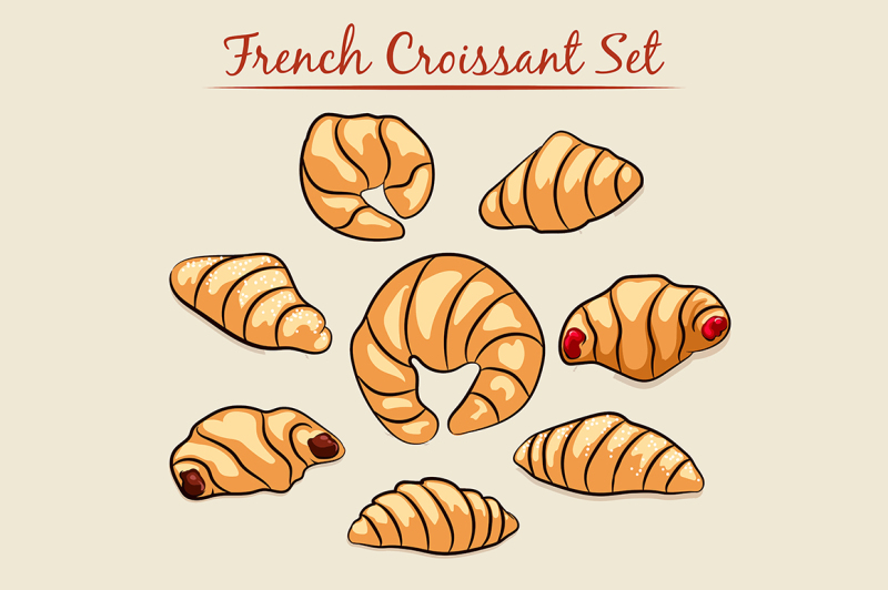 french-croissant-set