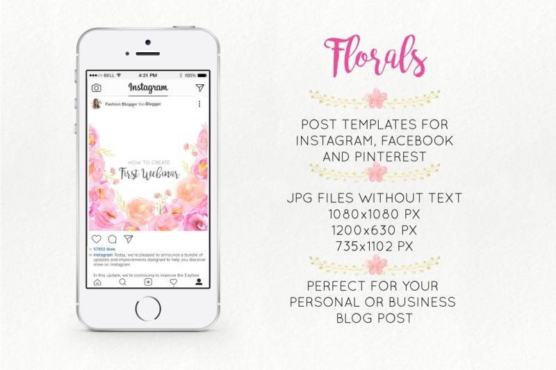 florals-social-media-graphics