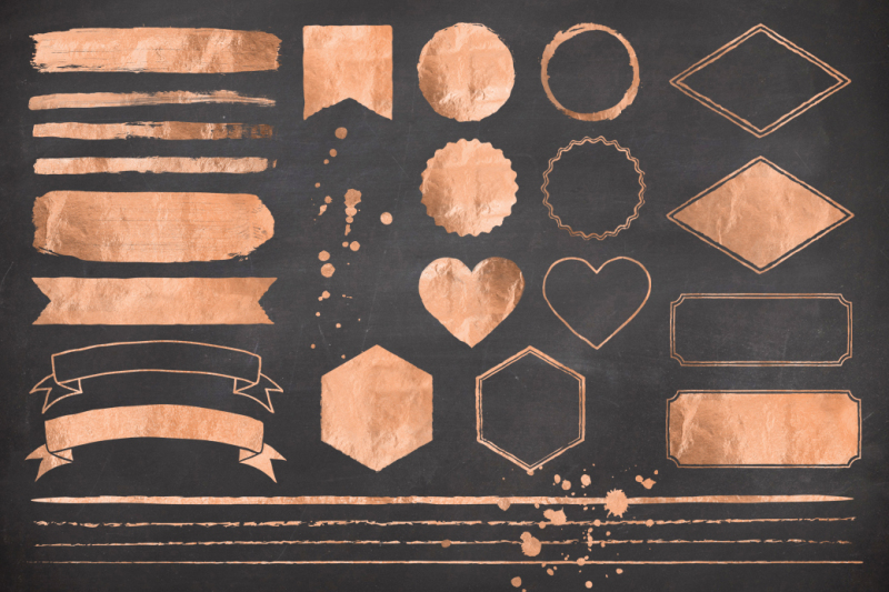 rose-gold-foil-design-elements
