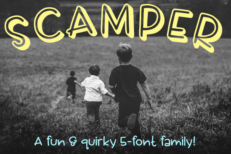 scamper-a-five-font-family