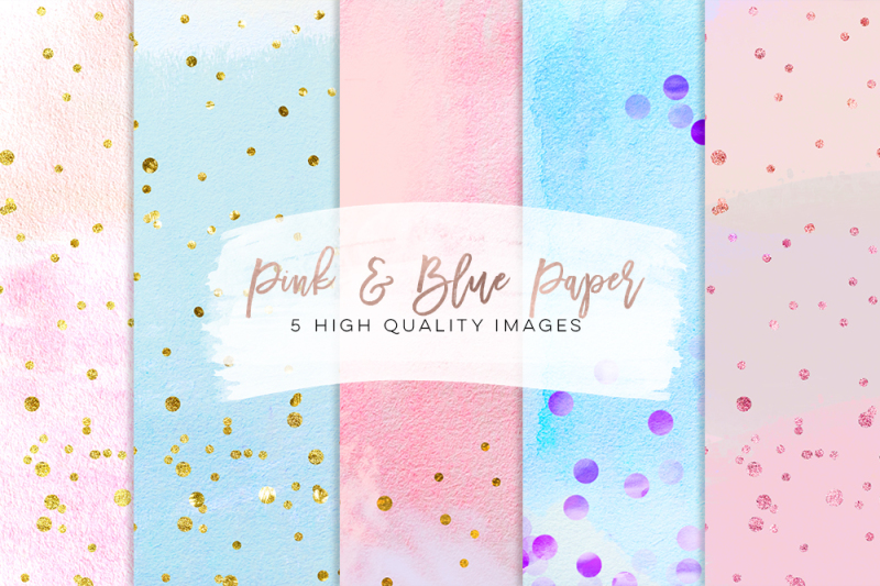 pink-blue-scrapbooking-print-paper-gold-paper-pink-gold-paper-confetti-digital-floral-color-paper-pack-printable-paper-bundle-diy-paper