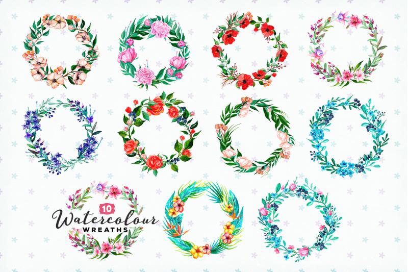 10-handpainted-watercolour-wreaths