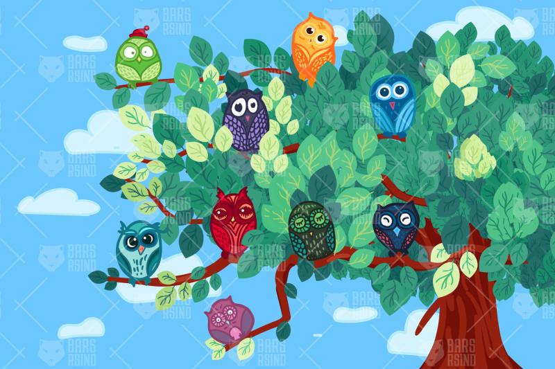 owls-on-the-tree
