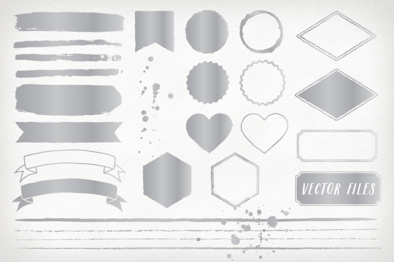silver-foil-design-elements-and-shapes
