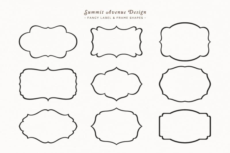 Free Fancy Frames & Label Shapes or Borders (PSD Mockups)