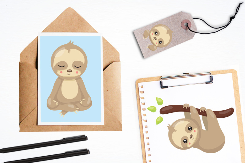 sleepy-sloth-illustration-and-graphics