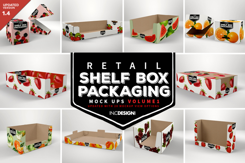 Free Retail Shelf Box Packaging Mockups Vol.1 (PSD Mockups)