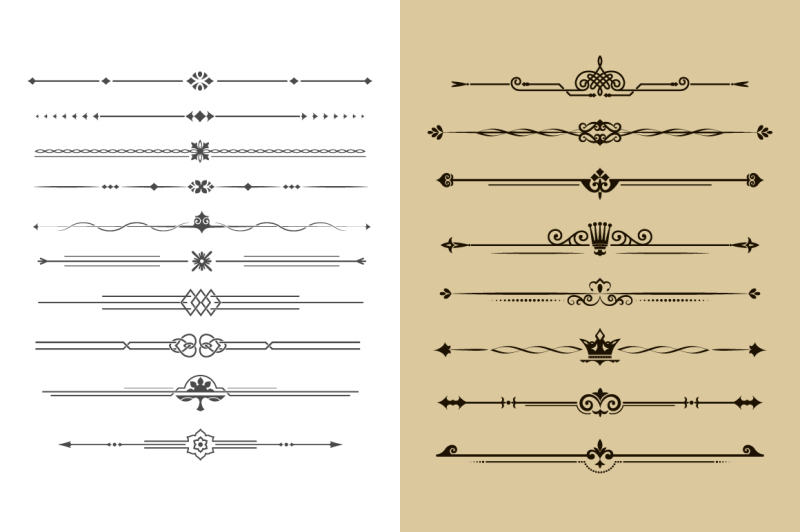 set-of-calligraphical-dividers