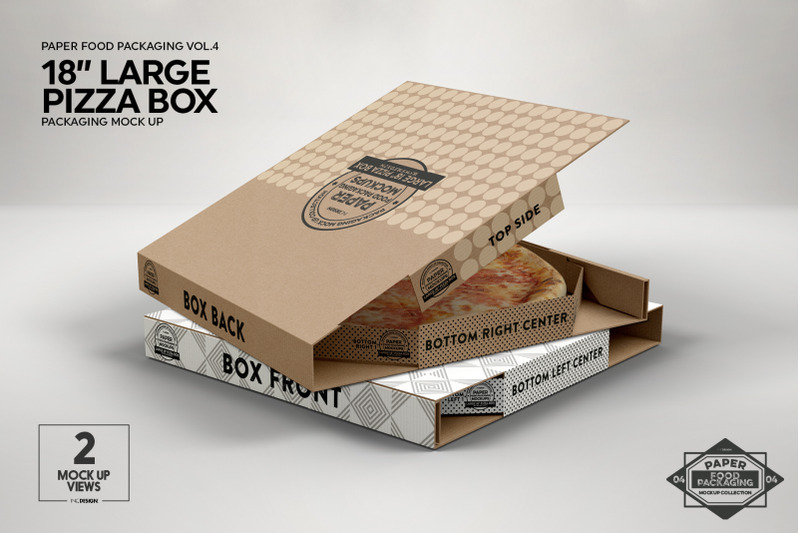 Download Textured Kraft Opened Pizza Box Mockup Yellowimages