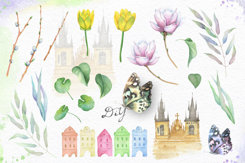 spring-and-bicycle-watercolors
