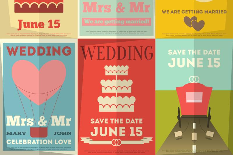 wedding-posters-set