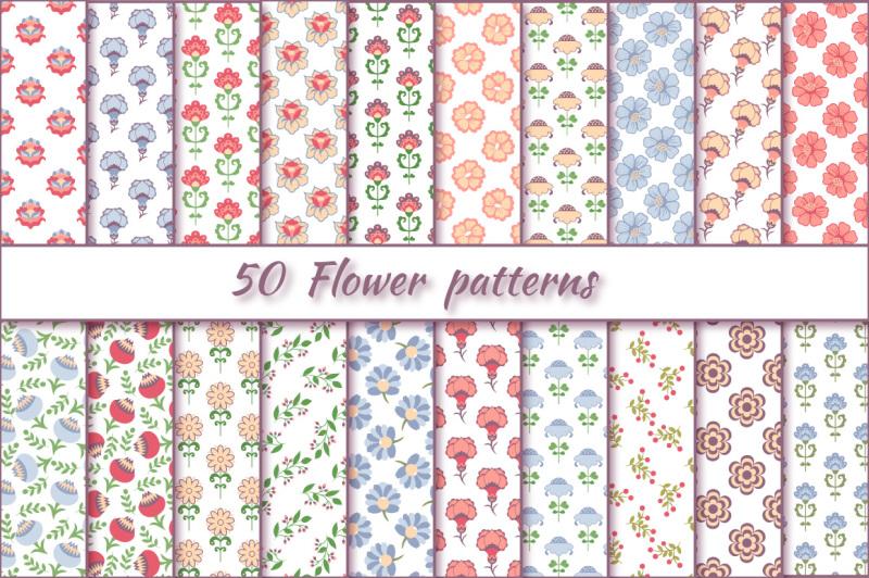 flower-patterns-vector-set