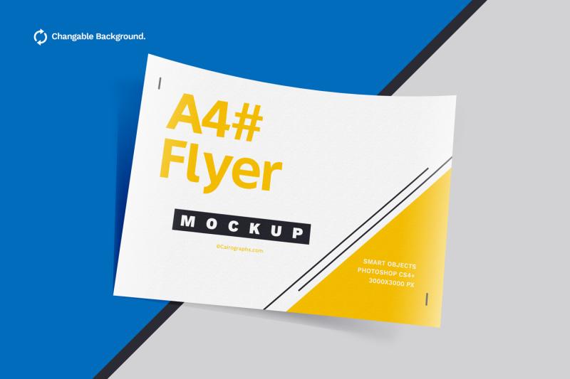 Free Posters & Flyers Mockups (PSD Mockups)
