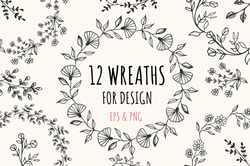 12-wreaths-for-design-eps-and-png