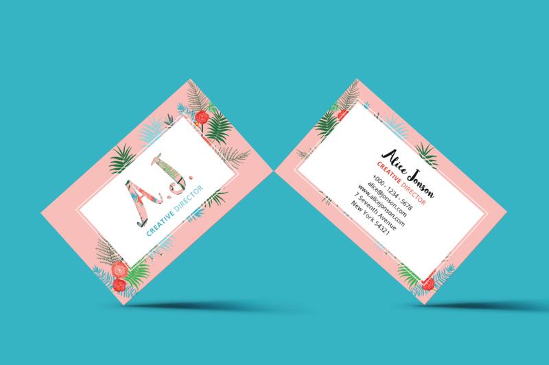 floral-spring-business-card