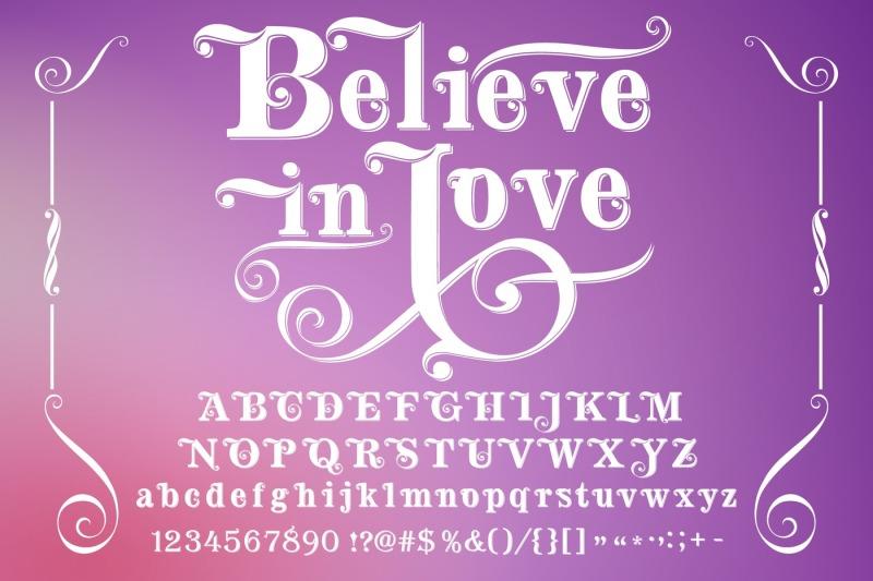 believe-in-love-handcrafted-vector-typeface