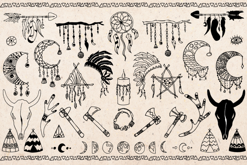 hand-drawn-boho-tribal-design-elements-clipart