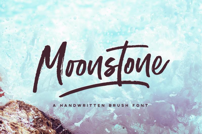 moonstone-brush-font