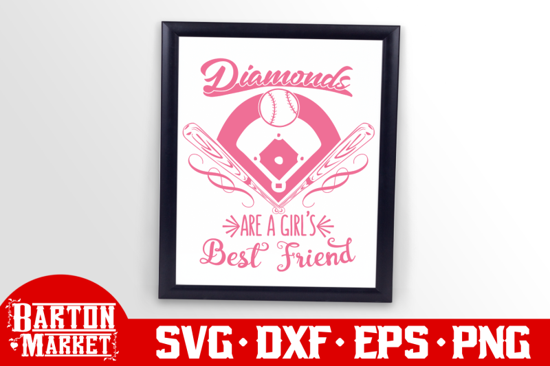 Diamonds Are A Girl S Best Friend Svg Dxf Eps Png By Bartonmarket