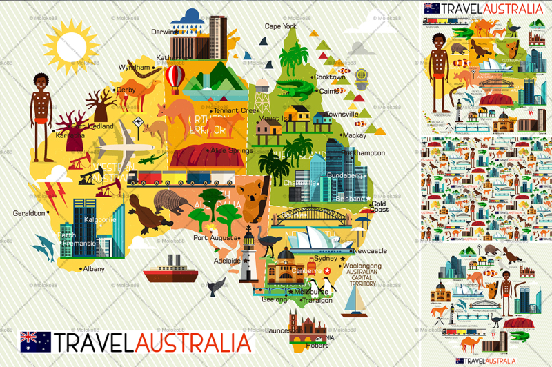 map-of-the-australia-and-travel-icons-australia-travel-map-vector-illustration