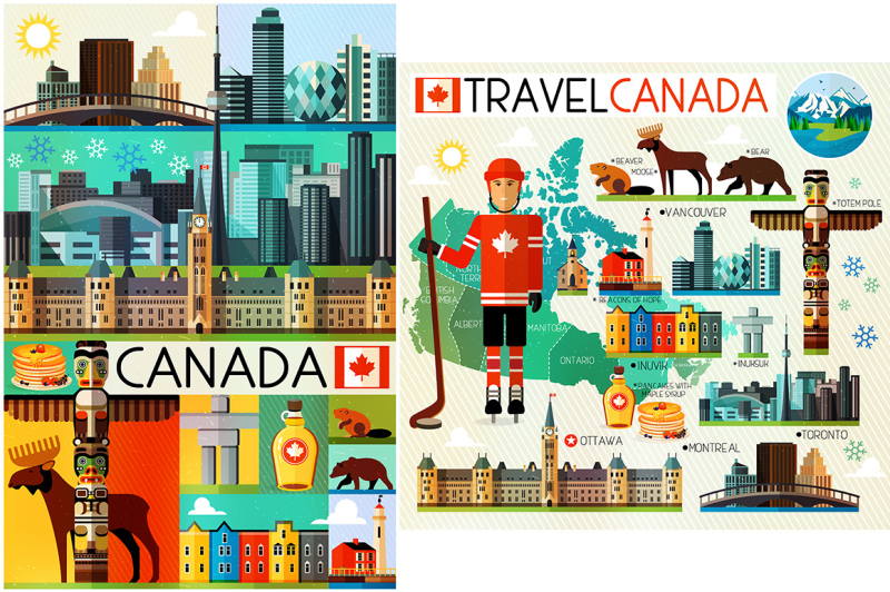 vector-set-of-various-canada-icons