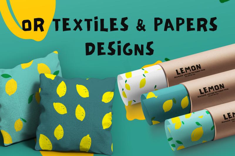 lemon-seamless-vector-patterns-pack