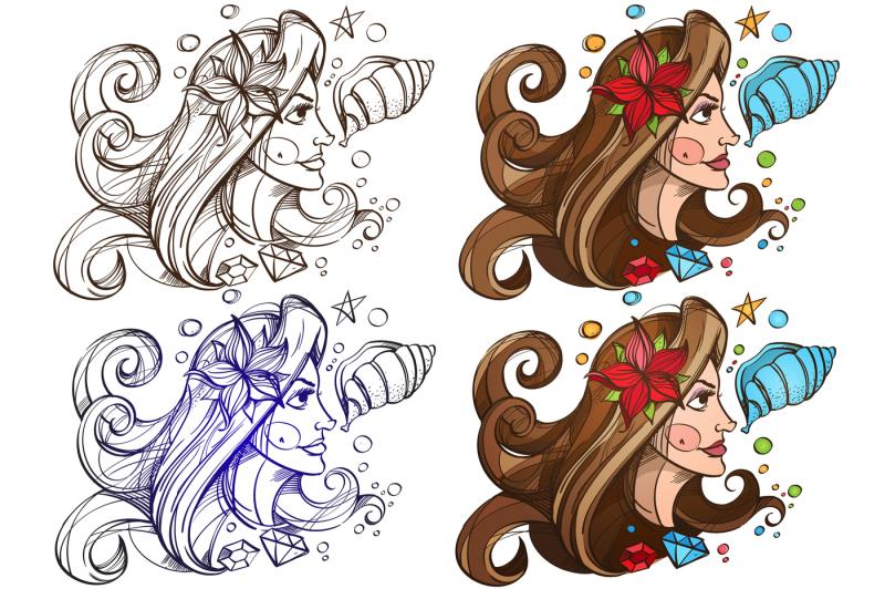 pretty-girl-illustration-mermaid