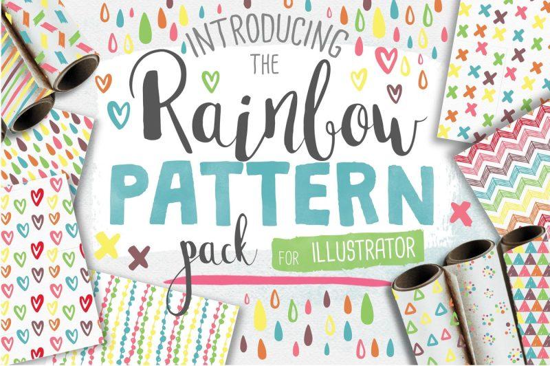rainbow-seamless-pattern-pack