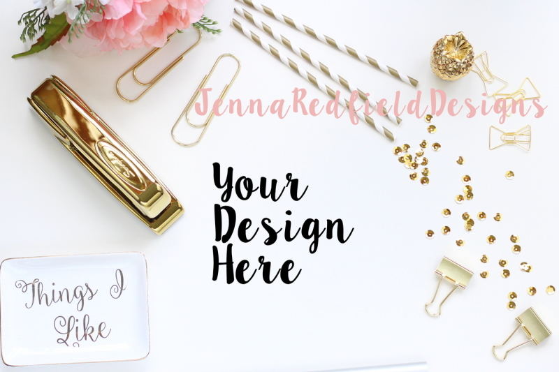 Free Gold and Pink Sheepskin Styled Stock (PSD Mockups)