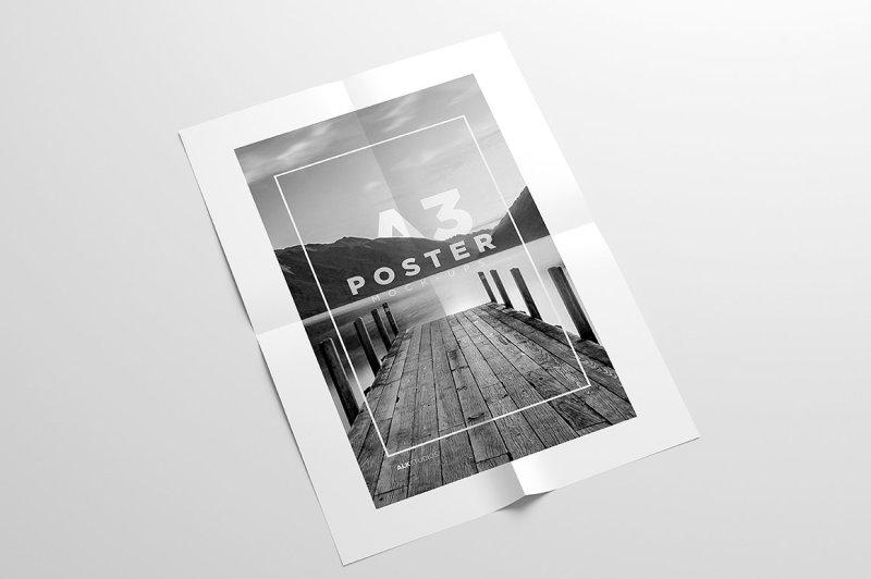 Free A3 Poster Mock-Up (PSD Mockups)