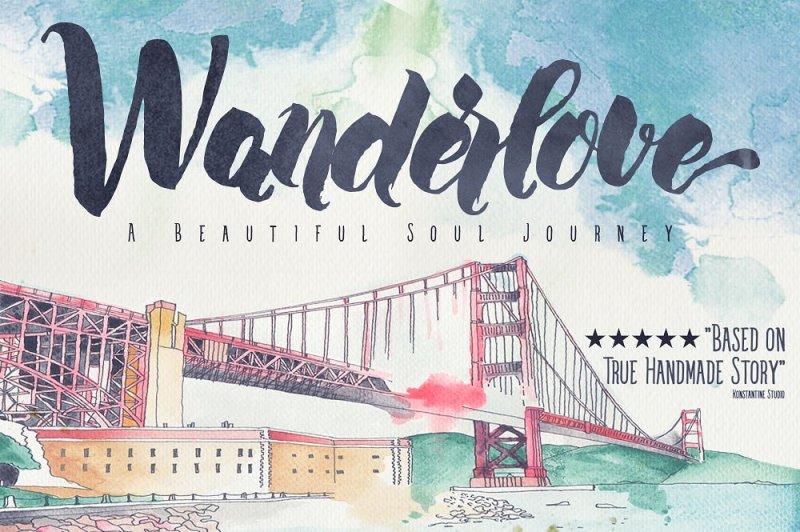 wanderlove-brush-script-font