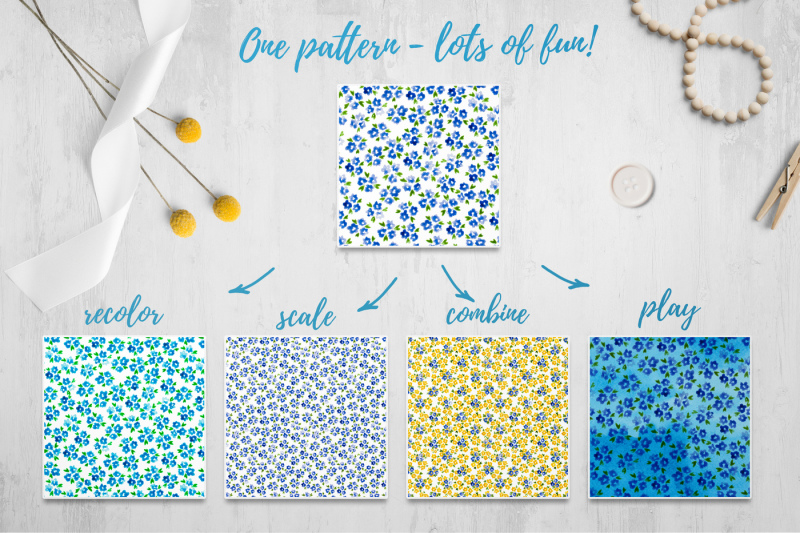 mille-fleur-36-watercolor-patterns